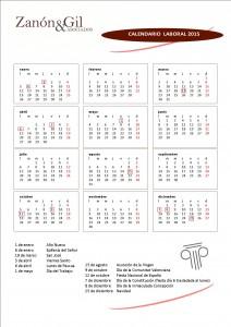 Calendario Laboral 2015 Comunidad Valenciana