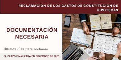 Reclamación Gastos de Hipoteca: Documentación necesaria y plazos